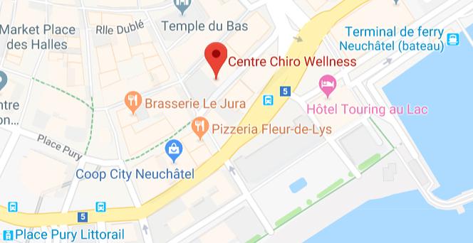 Carte de localisation du Centre Chiro Wellness
